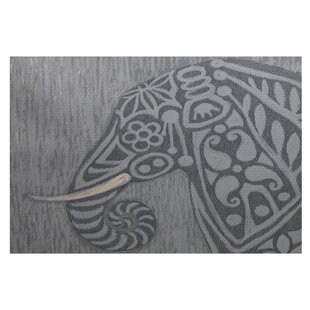 Essehoul Print Gray Indoor/Outdoor Area Rug