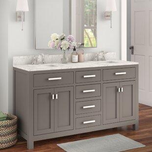 Raven 60 Double Bathroom Vanity Set by Andover Mills