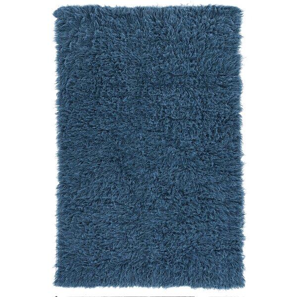 Viv Rae Kathleen Handmade Flokati Wool Blue Area Rug Reviews Wayfair