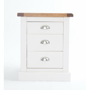 Enzo 3 Drawer Bedside Table By August Grove