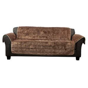 Flannel Box Cushion Sofa Slipcover by ..
