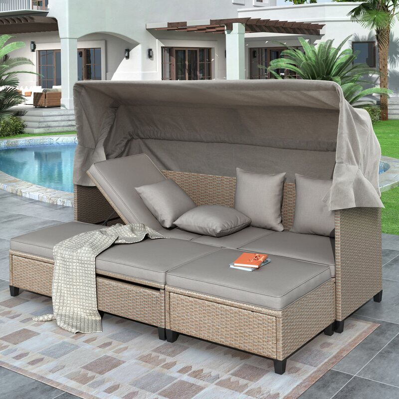 Latitude Run Dorren UV-Proof Patio Day Bed with Cushions