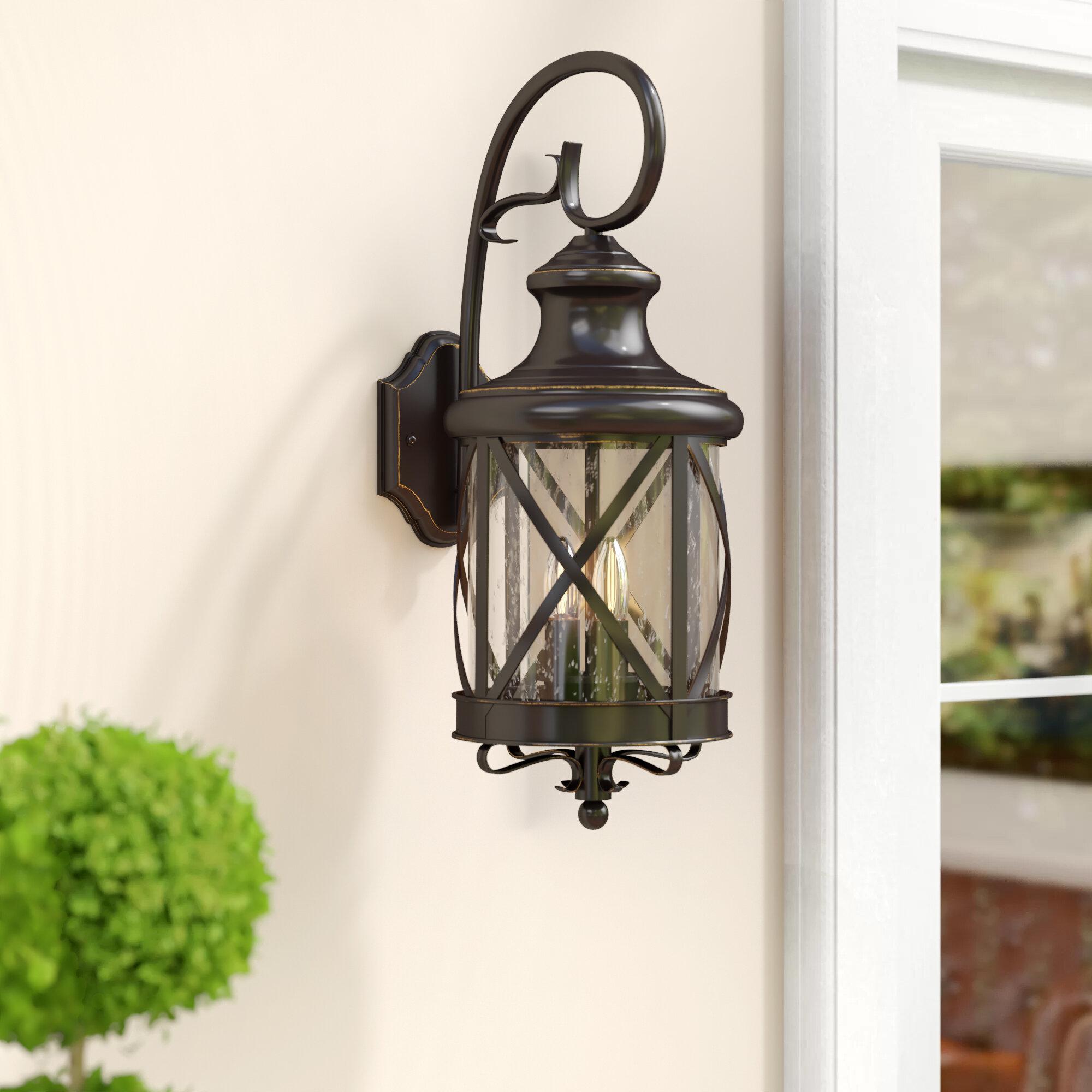 Charlton Home Tucker Outdoor Wall Lantern Reviews Wayfair
