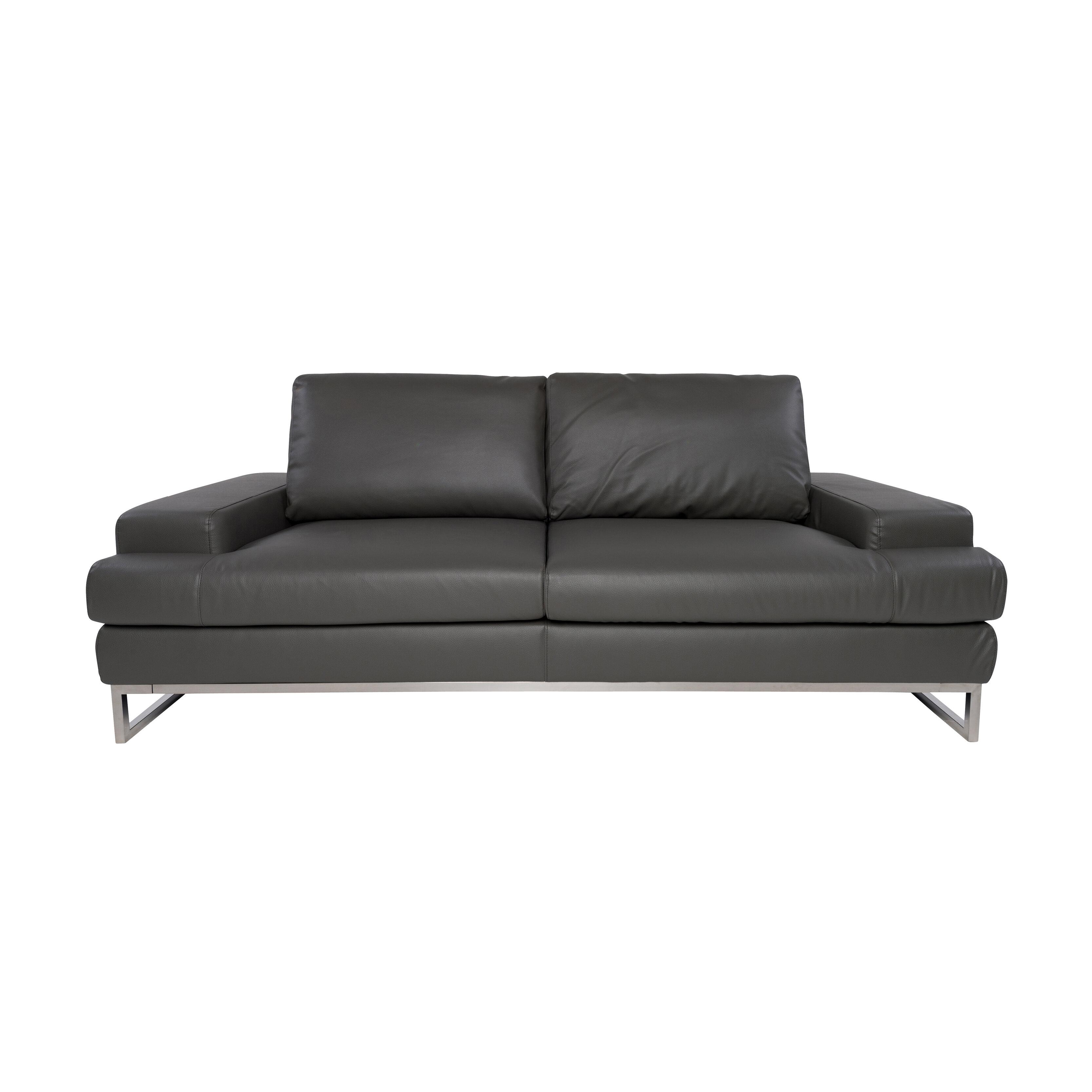 Super Angeline Leather Loveseat Short Links Chair Design For Home Short Linksinfo