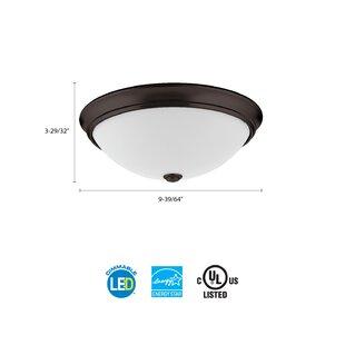 Lithonia Lighting Essentials LED Round Décor 1-Light Flush Mount