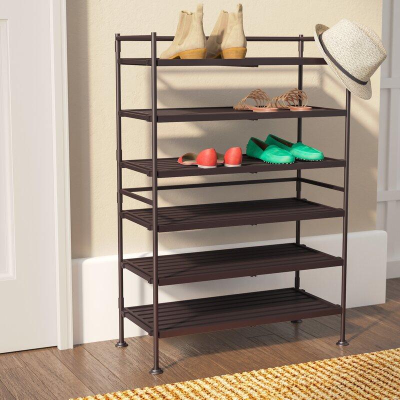 Shoes Rack Part - 33: 6-Tier 18 Pair Shoe Rack