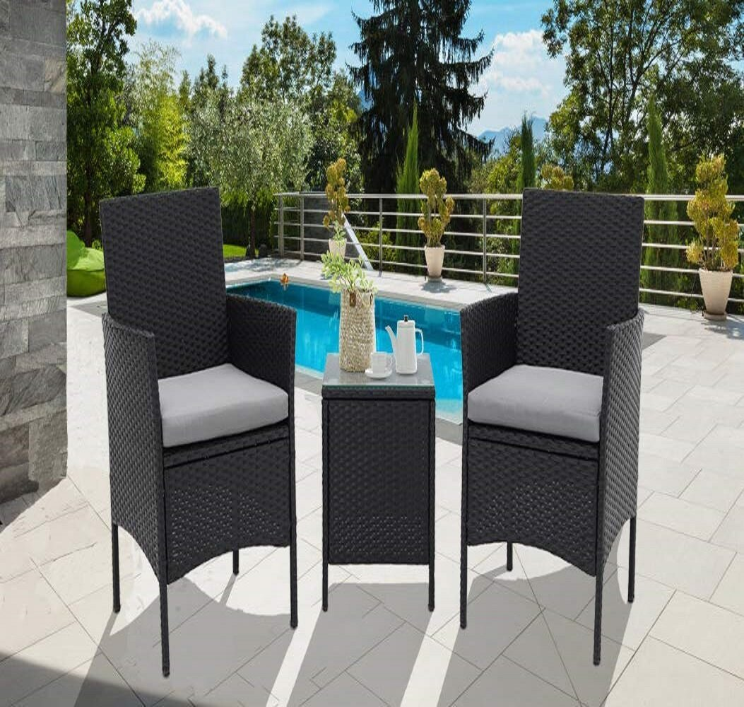 Bay Isle Home Drayton Outdoor 3-Piece Wicker Bistro Set & Reviews
