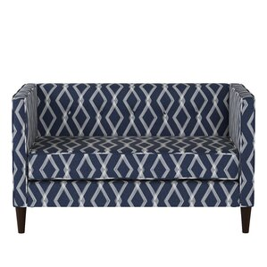Edford Five Button Crossweave Loveseat by Varick Gallery
