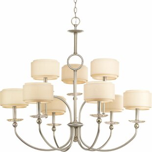 Alcott Hill Frieda 9-Light Shaded Chandelier