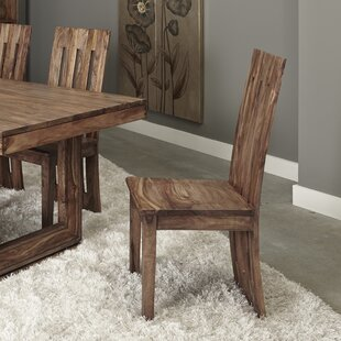 Costas Solid Wood Dining Chair (Set of 2) Loon Peak