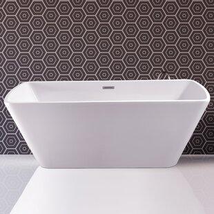 59 inch  x 28.3 inch  Freestanding Soaking Bathtub