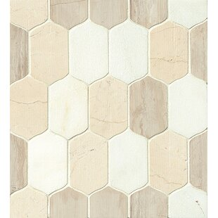 Villa Paz Stone Mosaic Tile in Glossy Rio by