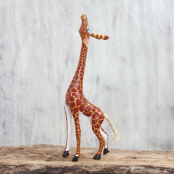 Wooden Giraffe Statues Wayfair