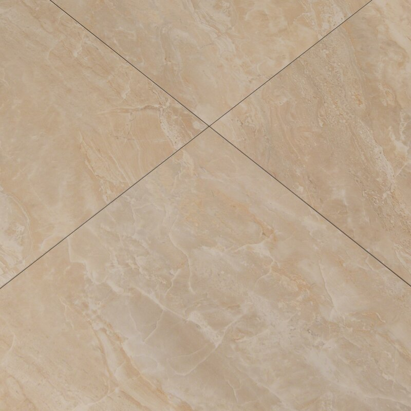 Msi Pietra Onyx 18 X 18 Porcelain Field Tile In High Gloss