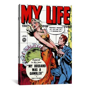 My Husband Was A Gambler (My Life Comic Book) Vintage Advertisement On  Canvas