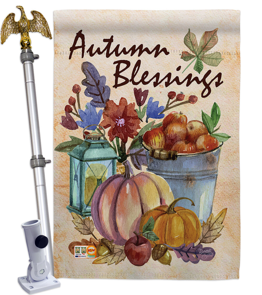 Breeze Decor Autumn Blessings 2 Sided Polyester 40 X 28 In Flag Set Wayfair