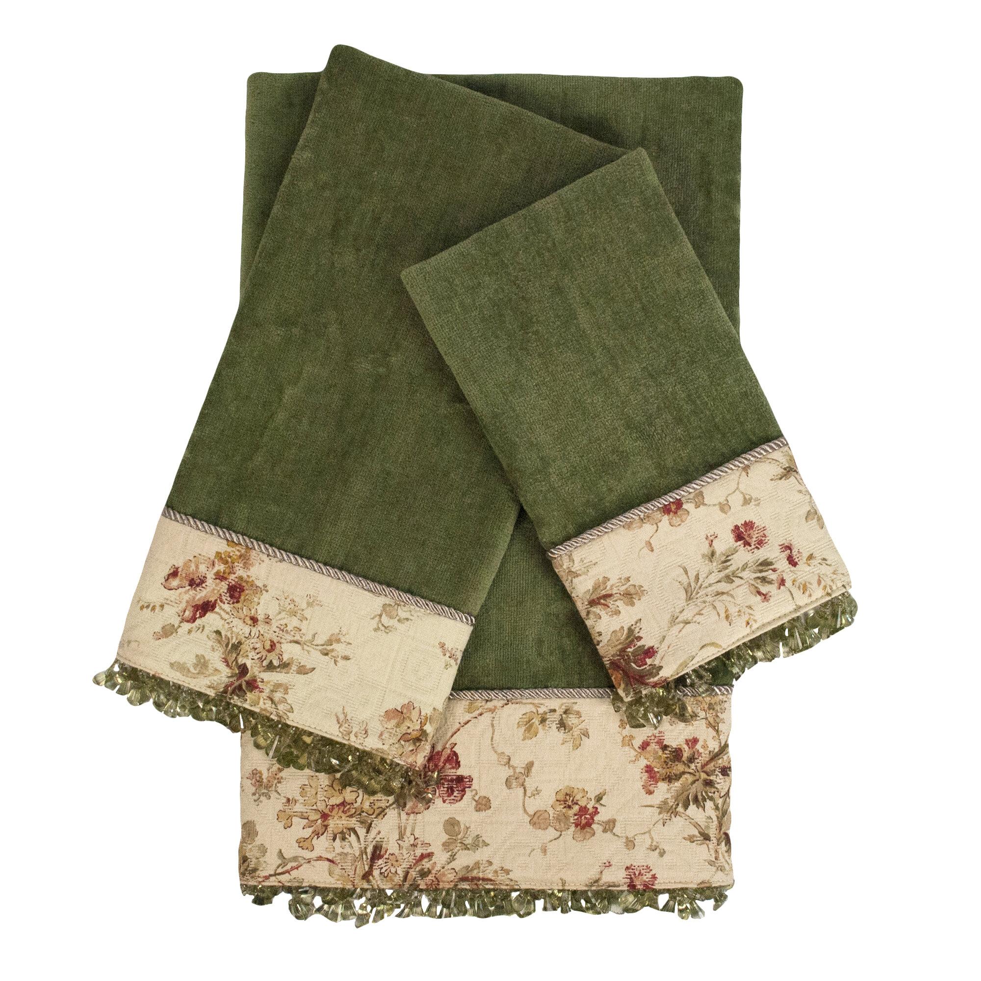 Sherry Kline Decorative Embellished 3 Piece Towel Set Wayfair