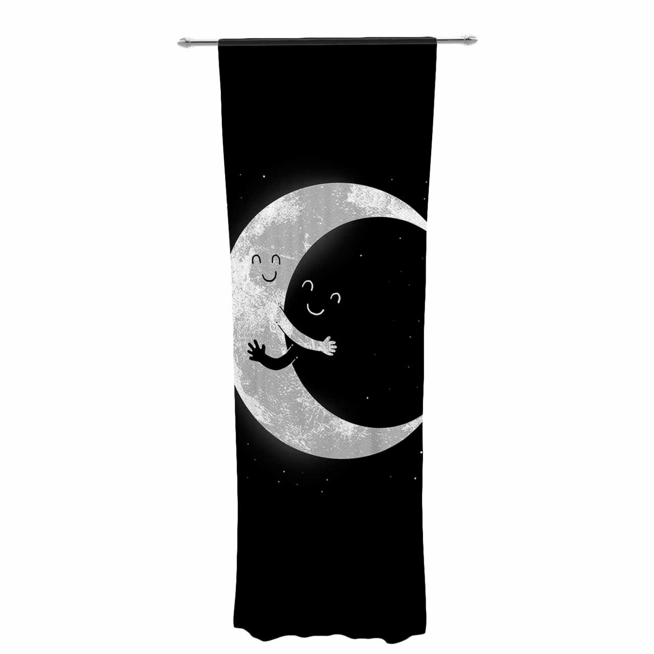 East Urban Home Digital Carbine Moon Hug Decorative Graphic Print