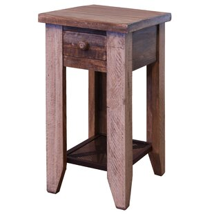 Streicher End Table With Storage By Millwood Pines