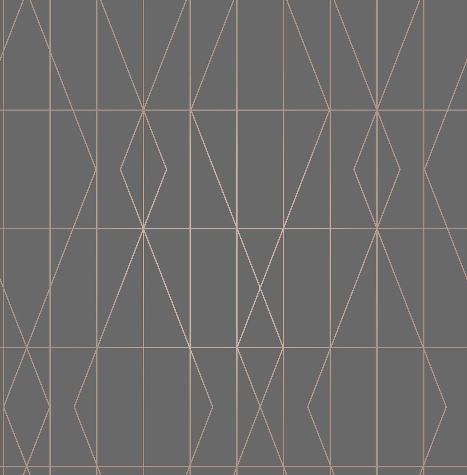 Paper Geometric Wallpaper Youll Love Wayfaircouk
