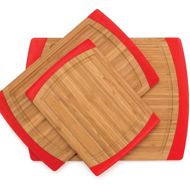 Lipper International 3 Piece Bamboo Cutting Board Set Reviews