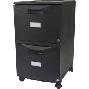 Sabina 2-Drawer Mobile File Vertical Filing Cabinet with Lock