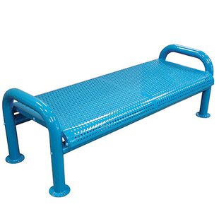 U-Leg Perforated Metal Picnic Bench