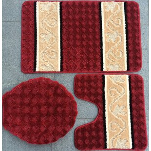 Wooten 3 Piece Bath Mat Set