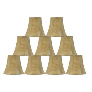 5 Faux Leather Bell Candelabra Shade (Set of 9)