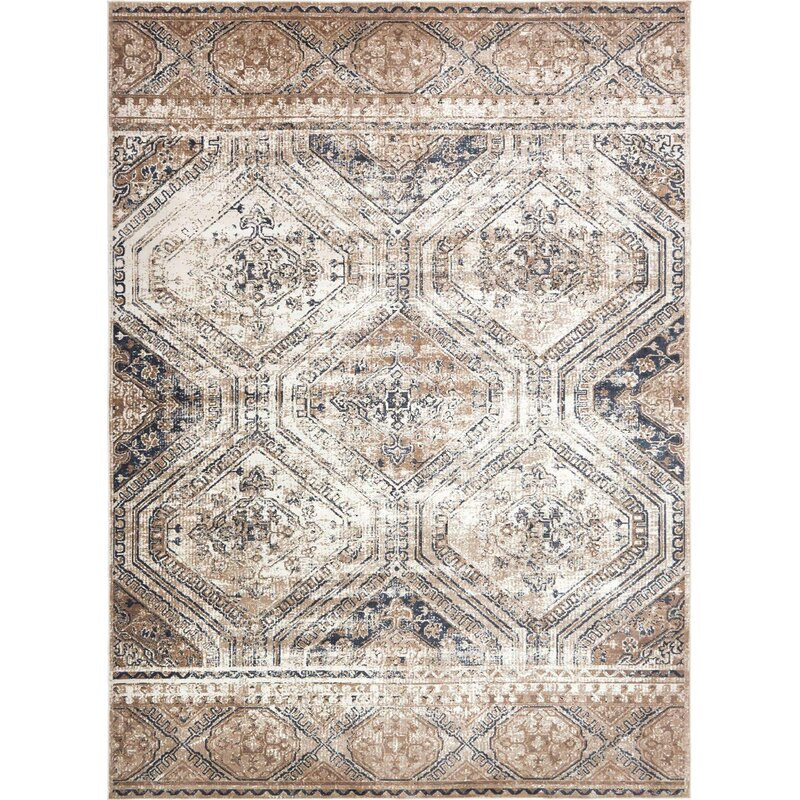 Three Posts Langevin Oriental Beige Area Rug Reviews Wayfair
