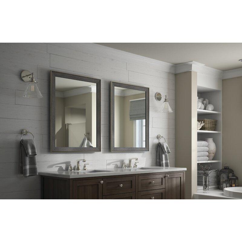 Delta Modern Distressed Bathroom Vanity Mirror
