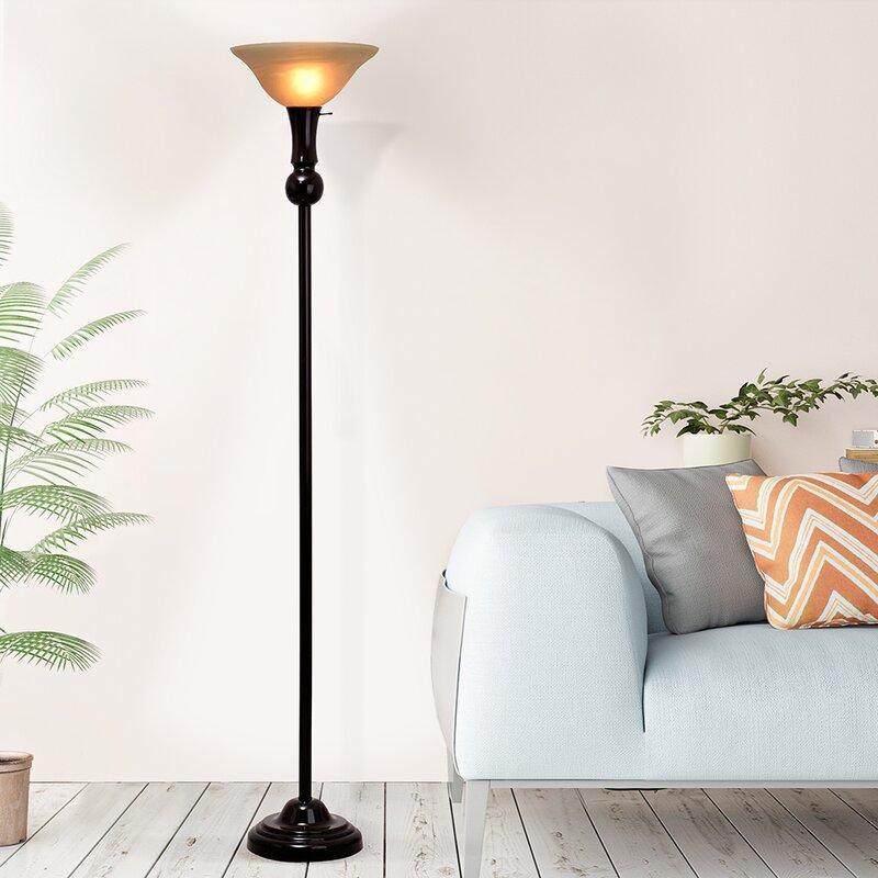 Krauss 3 way 72 torchiere floor lamp