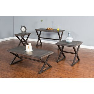 Union Rustic Brittani Coffee Table Set