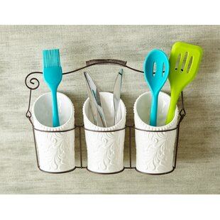 Kitchen Ceramic Flatware Caddy