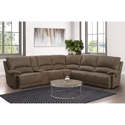 Red Barrel Studio Slay 165 Symmetrical Reclining Sectional Red Barrel Studio Fabric Brown Polyester Dailymail