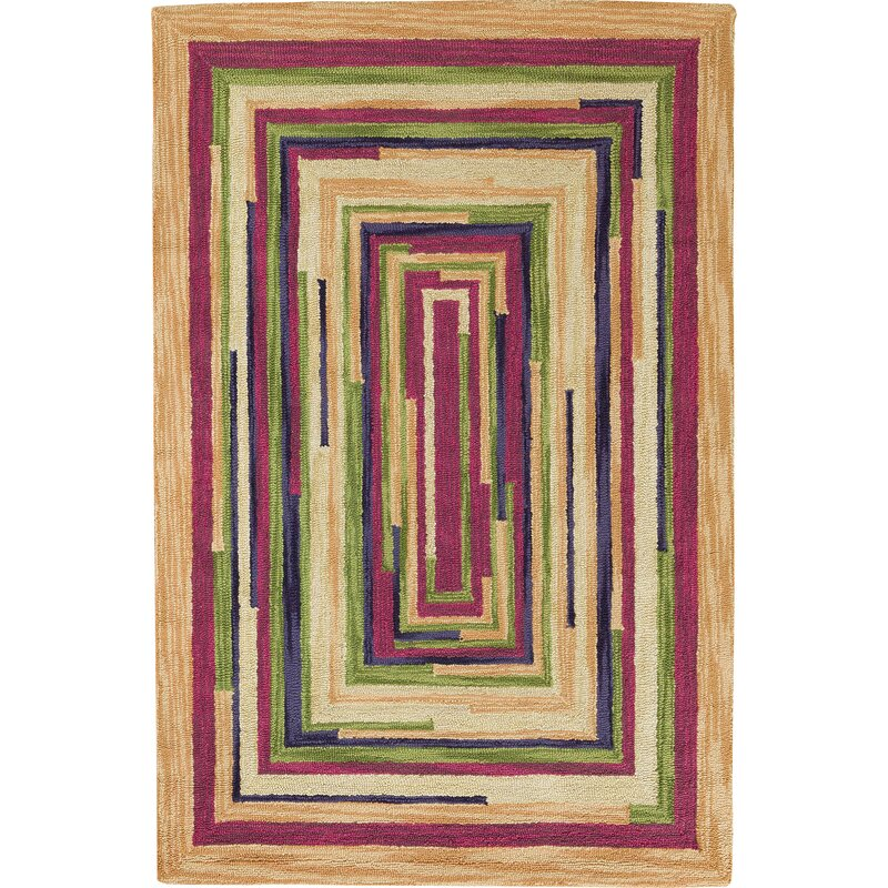 Square Spiral Loop Venice Area Rug