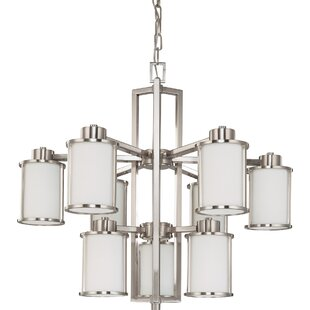 Breakwater Bay Ferris 9-Light Shaded Chandelier