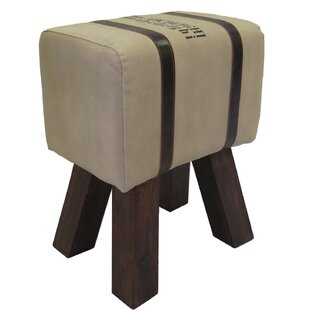 Review Abernathy Genuine Leather Upholstered Stool