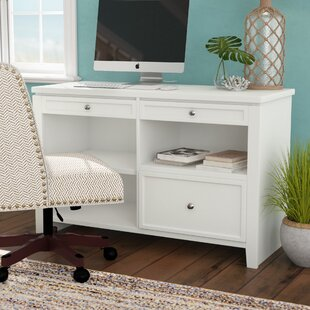 Veda Wood Credenza Desk by Beachcrest Home Best Choices