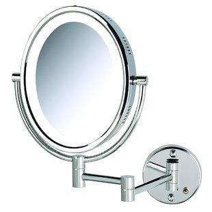 Symple Stuff Traditional Lighted Wall Mount Bathroom Vanity Mirror