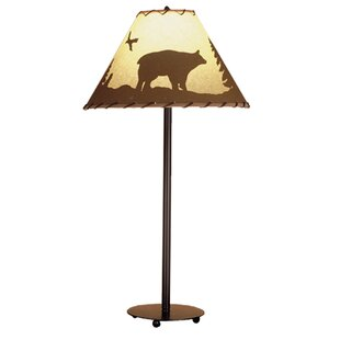Order Bear In The Woods Painted 29 Buffet Lamp By Meyda Tiffany