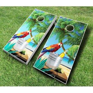 AJJ Cornhole 10 Piece Parrot Cornhole Set