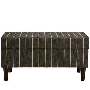 Evalyn Traditional Cotton Upholstered Storage Bench