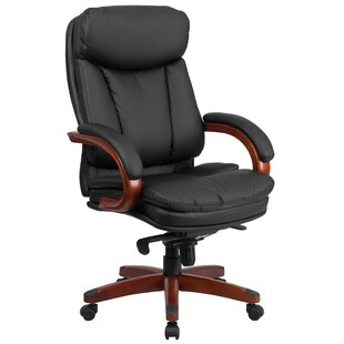 Symple Stuff Wylie Leather Executive Chair