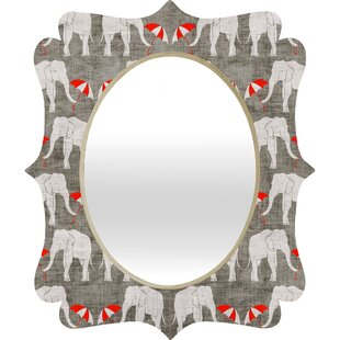 Deny Designs Holli Zollinger Elephant and Umbrella Quatrefoil Accent Mirror