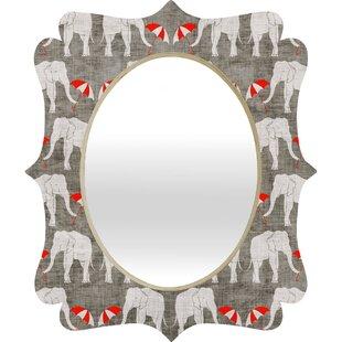 Deny Designs Holli Zollinger Elephant and Umbrella Quatrefoil Accent Mirror