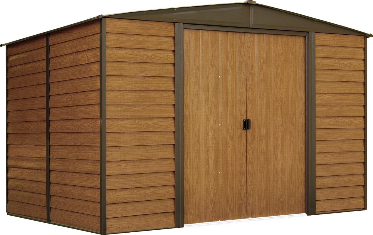 woodvale 10 ft w x 6 ft d metal storage shed
