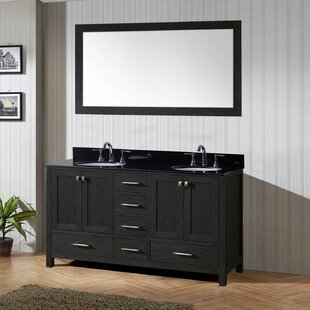 Fridley 71 Double Bathroom Vanity Set with Mirror by Wrought Studio