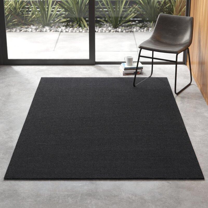 Handmade Wool Charcoal Gray Area Rug