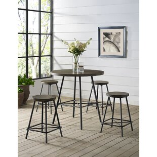 Noelle 5 Piece Pub Table Set b..